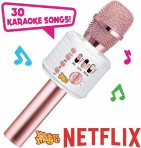 Move2Play Motown Magic Bluetooth Karaoke Microphone, Pink, for Girls