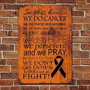 43LenaJon Breast Cancer Encouragement Gift Vintage Quotes Metal Sign,Retro Saying Words Sign,Rustic Quote Words Bar Men Cave Garden Wall Art,Farmhouse Aluminum Sign,Home Decor