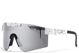 Original Pit Viper Sport Google Polarized Sunglasses for Men and Women Outdoor Windproof Eyewear Uv Mirrored Lens (C17)