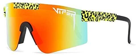 Original Pit Viper Sport Google Polarized Sunglasses for Men and Women Outdoor Windproof Eyewear Uv Mirrored Lens(C18)