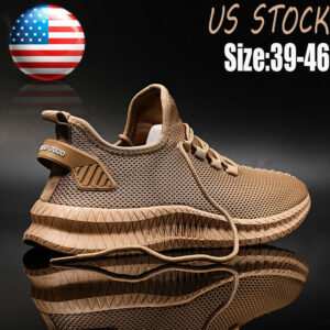 Men's Sports Running Shoes Outdoor Lace Up Athletic Sneakers Jogging Walking Gym