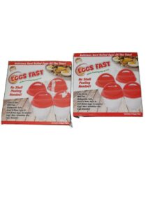 """New Lot Of """"2"""" 4 Pack Eggs Fast Cooked Hard/Soft Boiled No Schell Peeling Needed"""