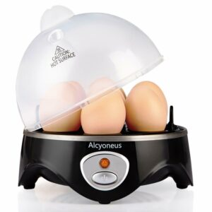Rapid Electric Automatic Silent Egg Cooker Boiler  Poacher with 7-Eggs Capacity