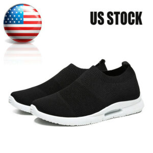 Men's Slip-On Sneakers Lightweight Breathable Athletic Walking Gym Sports Shoes