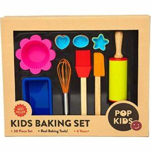 30-Piece Pop Kid&39s Baking Set For Family Fun Premium Kit Children Learning To