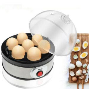 Mini Egg Boiler Stainless Steel Timing Egg Cooker (Assorted Color EU Plug)