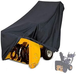 Snow Thrower Cover, 2 Stage Snow Blowers Covers, Outdoor Open Air Waterproof Dustproof Windproof Dust Cover for Most Electric Snow Blowers, 433250inch