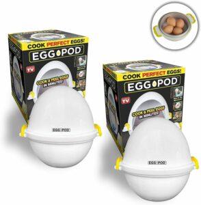 EGGPOD 7076 by Emson Wireless Microwave Egg Maker, Cooker, Boiler and Steamer,
