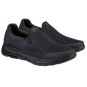 New Skechers Men's Go Walk Black Air Cooled Slip On Memory Foam Shoes Pick Size