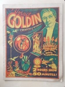 HORACE GOLDIN CREATOR OF WONDERS – SECRETS OF MAGIC c1919 – RARE 20 PAGE BOOK