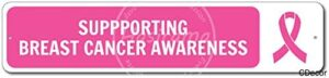 NOT Supporting Breast Cancer Awareness Tin Retro Sign Vintage Metal Poster Plaque Warning Signs Iron Art Hanging Wall Decoration Yard Cafe Bar Pub Club Gift 40X10 cm