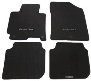HYUNDAI Genuine Accessories 3XF14-AC200-RY Black Carpeted Floor Mat, (Set of 4)