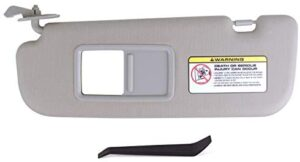 UNIGT Driver Side Sun Visor Compatible with 2011-2014 Hyundai Elantra Avante MD Replace 852103X000TX – Front Left Gray