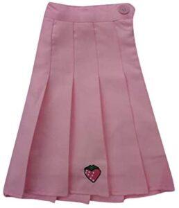 FONMA Ladies Casual Wild Strawberry Pleated Skirt Mini Skirt