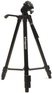"""Polaroid 50"""" Travel Tripod With Carrying Case – Full Sized Digital Camera & Camcorder Tripod Weighs Under 2 Lbs. & Adjustable Legs Retract to Under 17"""" For Easy Portability – Locking Pan Head & Braced"""