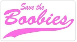 AK Wall Art Save The Boobies Breast Cancer Support Vinyl Sticker – Car Phone Helmet – Select Size