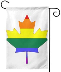 Gay Rainbow Pride Flag LGBT Love Canada Double-Sided Garden Flag (Multi-Yard) Garden Flag Vertical Double Sided, Flower Wreath Home Sweet Home Rustic Farmhouse Flag Yard Outdoor Decoration