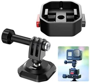 ULANZI Action Cam Quick Release Mount, Tripod Monopod Selfie Stick Handle Grip 1/4 Adapter QR Plate for Gopro Hero 5 6 7 8 9 Black/Gopro Max/DJI Osmo Action/Insta360 one Vlog Accessory