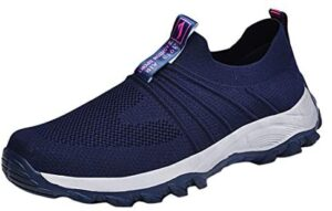 Women Exercise Walking Shoes Breathable Mesh Sports Non-Slip Lightweight Soft Sneakers