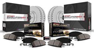 Power Stop CRK6504 front and rear Z17 Evolution Geomet Coated Brake Kit