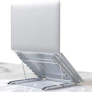 Laptop Stand, Tablet Laptop Holder Stand Foldable Ventilated Adjustable Laptop Computer Holder Desk Stand Universal Lightweight Ergonomic Tray Cooling (Silver)