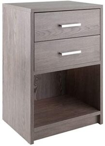 Winsome Wood Molina Accent Table, Ash Gray
