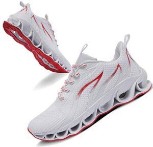 TIAMOU Men Running Walking Shoes Sport Athletic Wihte Jogging Sneakers