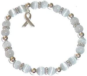 Hidden Hollow Beads Cancer Awareness Beaded Stretch Bracelet, Will Fit Most Wrists, Show Support or Wear in Memory, Comes Packaged.