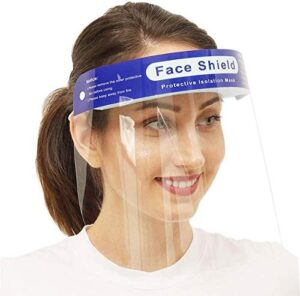 Face Shield Safety Reusable 10PCS 【US Stock】【Updated Version】Anti-Fog Wide Visor Spitting Anti-Fog Lens Lightweight Face Shield with for Men and Women (10PCS)
