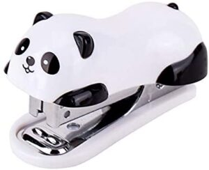 LNYJ 1 Pcs Mini Panda Stapler Set Office School Supplies Stationery Paper Clip Binding Binder Book Sewer Can Hold 40 Staples, can be Bound to 12 80g Copy Paper