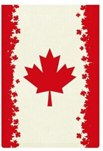 JASMODER Canada Country Flag Garden Flag 12.6×18.5 Inch Double Sided Burlap Decorative Yard Banner Garden Flag Holiday Flag for Party Home Outdoor