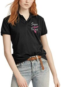 Breast Cancer Gifts- Pink Breast Cancer Awareness Spread The Hope Women Polo T Shirt Short Sleeve Cotton T-Shirts Tee Shirt
