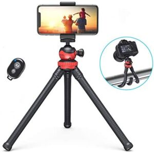Phone Tripod, Camera Stand, dodocool 2 IN 1 Mini Octopus Tripod, Flexible Tripod With Bluetooth Remote for iPhone/Android, 360°Adjustment Tripod for Camera GoPro/Smartphone, Live Stream/YouTube/TikTok