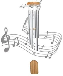 N/D Wind Chimes for Outside, Small Wind Chimes Outdoor Sympathy,Amazing Grace Wind Chime Memorial Wind Chimes,with 6 Aluminum Tubes & Hook, Outdoor Decor for Garden, Patio, Yard, Home