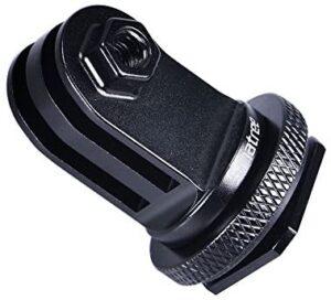 Smatree Full Aluminum Tripod Screw to DSLR Camera Flash Hot Shoe Mount Adapter Compatible for GoPro MAX/9/8/7/6/5/4/3+/3,GOPRO Hero 2018/DJI OSMO Action Camera