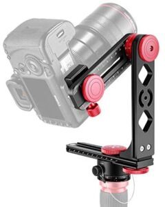 Neewer Gimbal Head Panoramic Head Camera Tripod Head Aluminium Alloy with Arca-Swiss Standard 1/4 inch Quick Release Plate and Carry Bag Max Load 22 Pounds Compatible with Nikon Canon Sony DSLRs