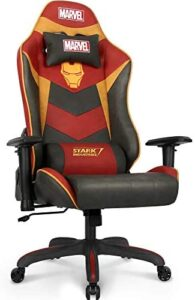 Marvel Avengers Gaming Chair Desk Office Computer Racing Chairs – Recliner Adults Gamer Ergonomic Game Reclining High Back Support Racer Leather Rocker (Iron Man, Red)