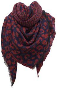 Tigivemen Plaid Blanket Winter Scarfs for Women Soft Warm Cozy Scarf Classic Chunky Oversized Wrap Shawl Scarves Gifts
