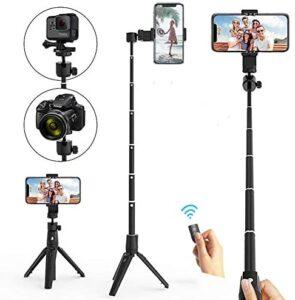 Selfie Stick Tripod, Xinji Phone Tripod Stand for iPhone Bluetooth Remote 40 Inch, Tripod for Huawei Samsung, Lightweight
