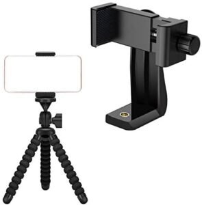 Ailun Tripod Phone Mount Holder Head Standard Screw Adapter and Ailun Digtal Camera Tripod Mount Stand Camera Holder for iPhone