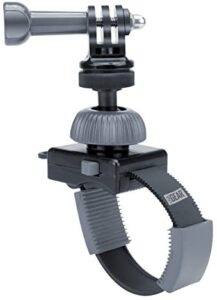USA GEAR Action Camera Handlebar Mount Zip-Tie with Tripod Screw, Adapter & Rotating Head – Fits bar up to 2″ Diameter – Compatible with Hero 7/HERO6, HERO5, YI 4K, AKASO EK7000 and More