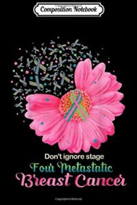 Composition Notebook: Don't ignore stage Four Metastatic Breast Cancer Journal/Notebook Blank Lined Ruled 6×9 100 Pages