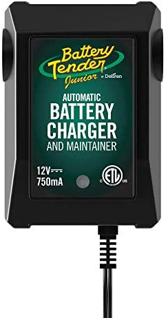 Battery Tender Junior Charger and Maintainer: Automatic 12V Powersports Battery Charger and Maintainer for Motorcycle, ATVs, and More – Smart 12 Volt, 750mA Battery Float Chargers – 021-0123