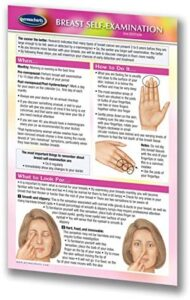 Breast Self-Examination Guide Pocket Chart – Women's Health Quick Reference Guide by Permacharts