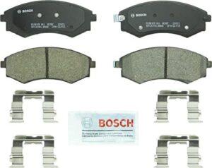 Bosch BC887 QuietCast Premium Ceramic Disc Brake Pad Set For Hyundai: 2005-2006 Elantra, 2002 Sonata, 2001 Tiburon; Kia: 2002-2003 Magentis, 2002-2003 Optima; Front