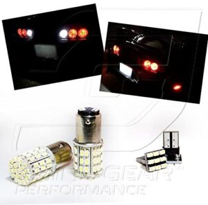 TGP 1156 White 64 LED SMD Reverse/Backup Light Bulbs and License Plate LED Pair 2004-2006 Compatible with Hyundai Elantra Hatchback Only