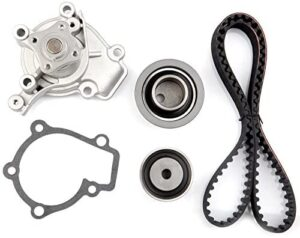 Timing Belt Kit including timing Belt water pump with gasket tensioner bearing etc,OCPTY Compatible for 1999 2000 2006 Hyundai Elantra/2006 Kia Spectra/2006 Kia Sportage