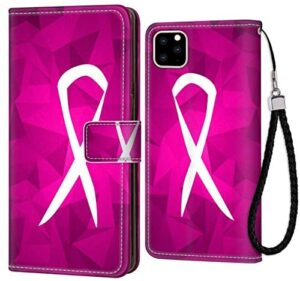 Breast Cancer Sign Wallet Case Fit for Apple iPhone 11 (2019) (6.1inch) with Magnetic