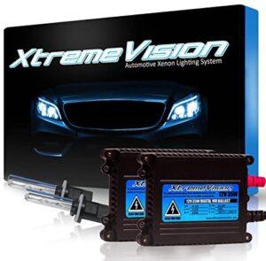 Xtremevision DC 35W Xenon HID Lights with Premium Slim Ballast – 880/881 8000K – 8K Medium Blue – 2 Year Warranty