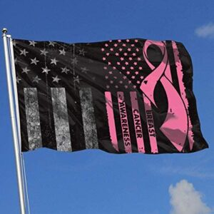 Breast Cancer Awareness Breeze 3×5 Foot Single Sided Garden Yard Sign, Outdoor Garden Decoration Decoration Sign